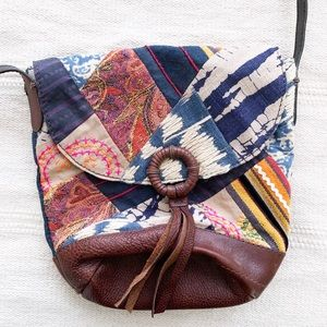 ✨BOGO✨ lucky brand patchwork embroidered boho bag